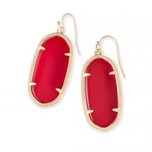 Kendra Scott Elle Earring Red NWOT